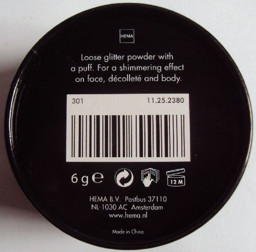 Glitter Body Powder de Hema