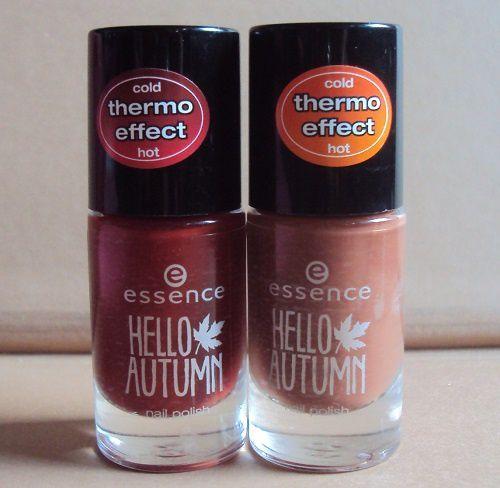 Les vernis Thermo Effect de Essence (coll Hello Autumn)