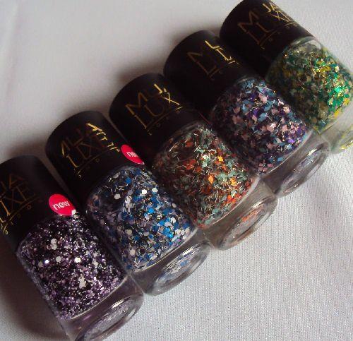 Mes vernis Glitter Effect Nails de MUA Luxe