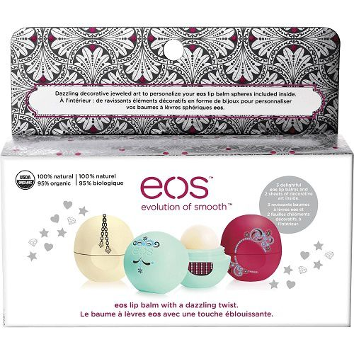 Decorative lip balm collection de EOS (idée cadeaux #1)