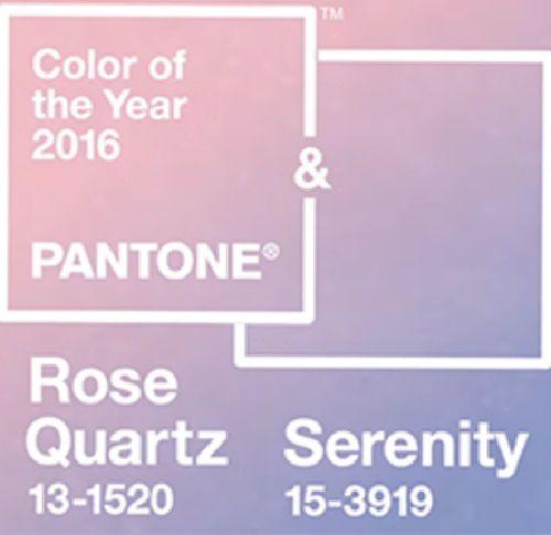 Rose Quartz et Serenity, couleurs de l'année 2016