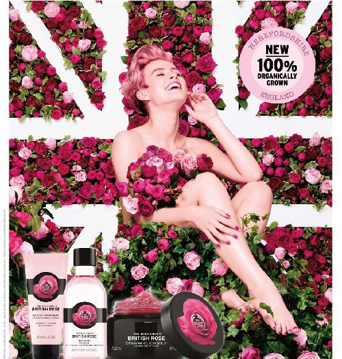 La collection British Rose de The Body Shop