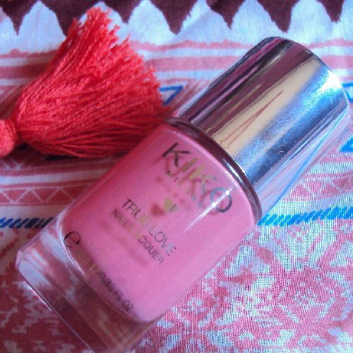 Sur mes ongles : Darling Coral de Kiko (coll. Best Friends Forever)