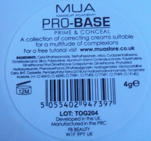La pallette Prime &amp&#x3B; Conceal de Make Up Academy (MUA)