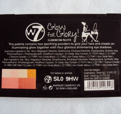 Ma palette Glow for Glory de W7