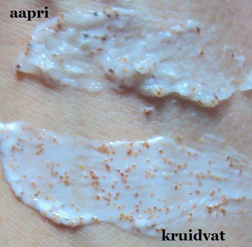 La crème exfoliante à l'abricot de Kruidvat Originals