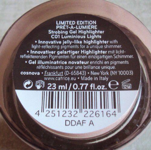 Strobing gel highlighter de Catrice (coll. Prêt-à-Lumière)