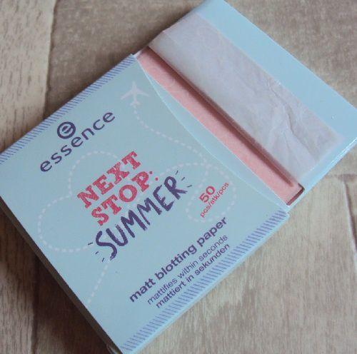 Les papiers matifiants de Essence (coll. Next Stop Summer)