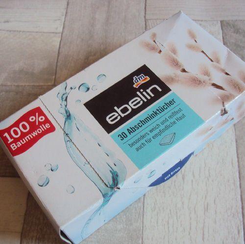 Les lingettes sèches de Ebelin (DM)