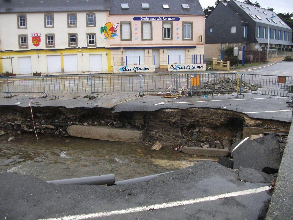 Tempêtes début 2014 : les ports de Bretagne souffrent