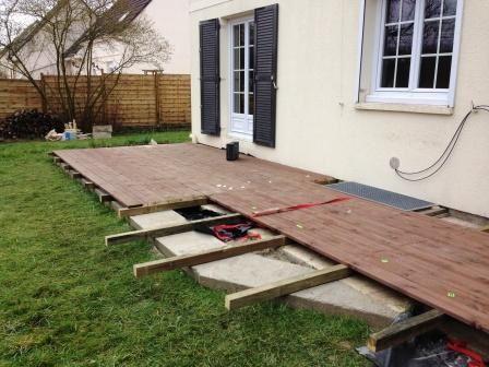 terrasse en bois sur ancienne terrasse r alisations 100 eurl bontemps olivier. Black Bedroom Furniture Sets. Home Design Ideas