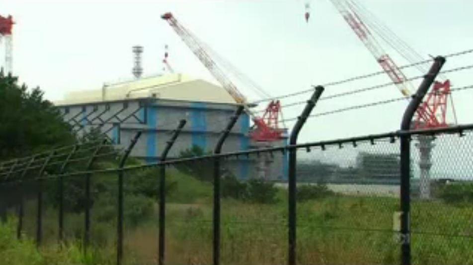 La centrale en cours de construction
