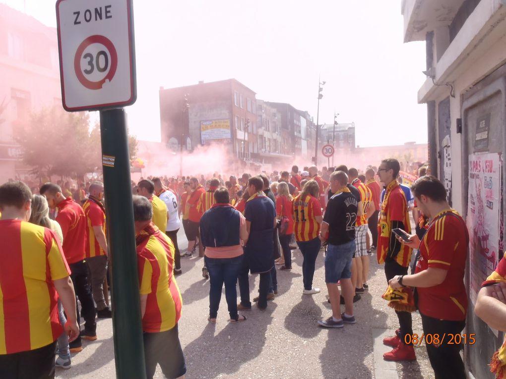 Les supporters du RC LENS sont BIEN là !...