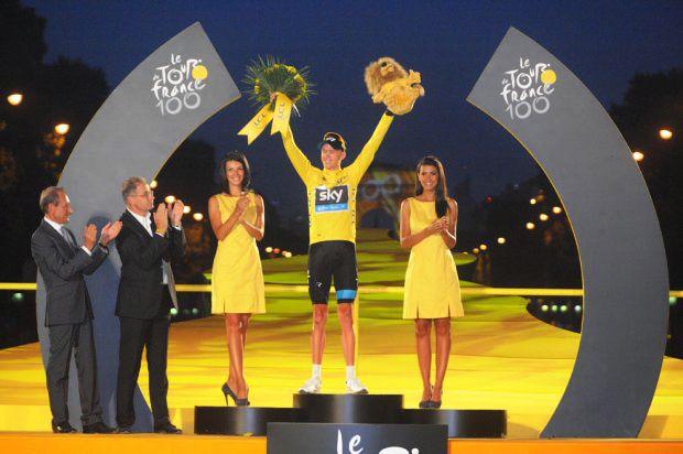 Le podium : Froome, Quintana, Rodriguez