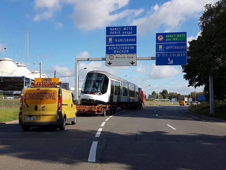 Strasbourg : arrivée de la nouvelle rame de tram Citadis