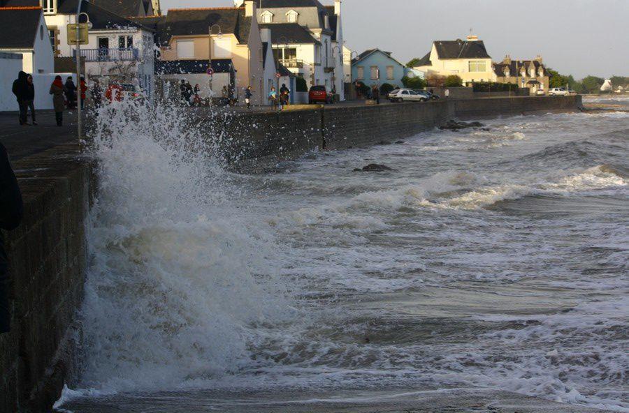 L'île tudy dans le vent et sous l'écume