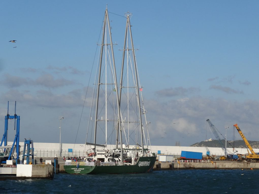Le Rainbow Warrior 3 de Greenpeace au Port de Tanger, le 29 et 30 octobre (8 photos)