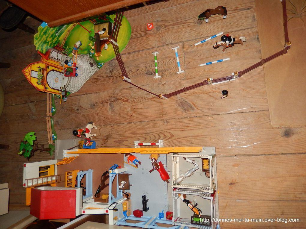 Comment jouer avec des playmobils ? Présentation de notre village.