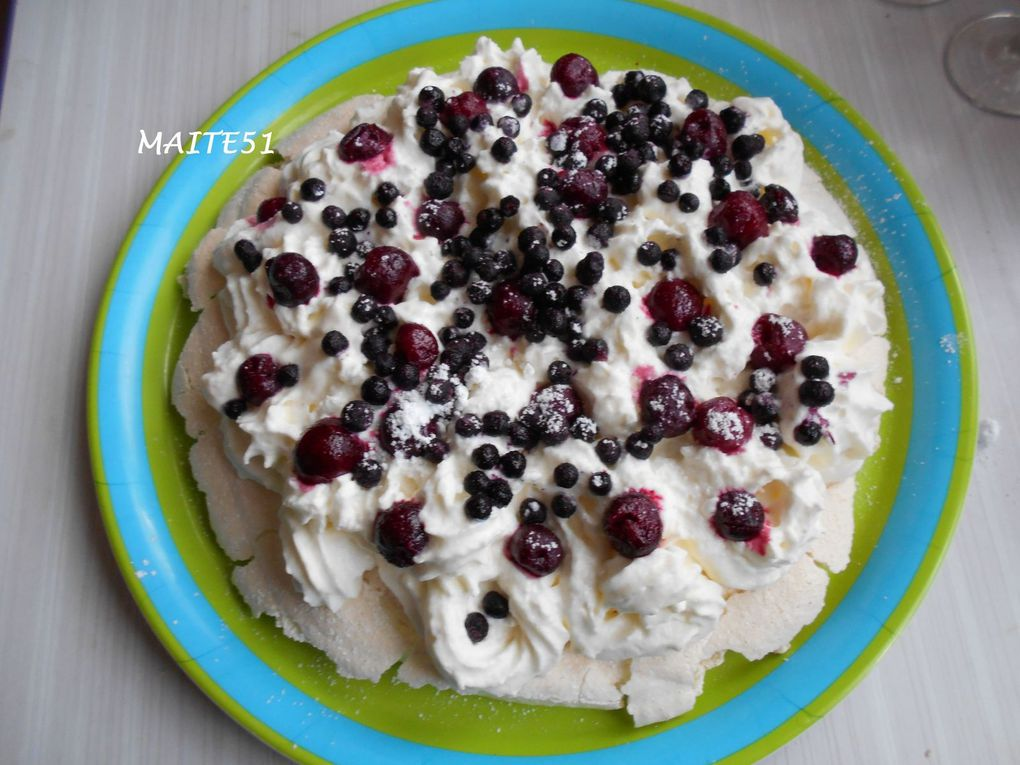 Pavlova aux Fruits Rouges !