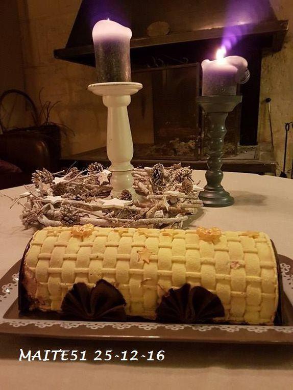 Bûche Mousse Framboise et Insert Chocolat !
