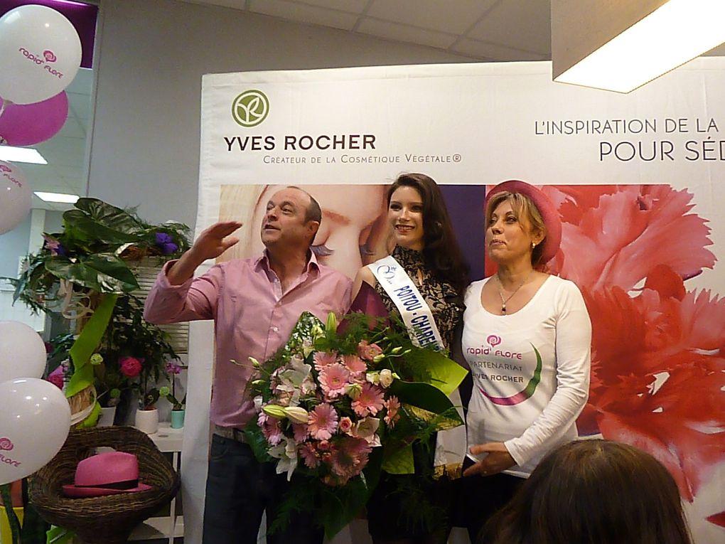 """Rive gauche et rive droite, ou de """" Rapid' Flore """" à """" Yves Rocher """". Un samedi après-midi à Saintes qui avait un parfum de fleurs."""