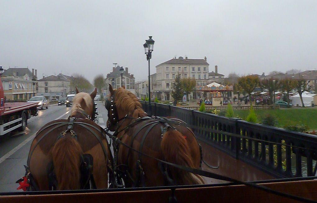 Et un petit voyage..... comme autrefois, sur le beau pont de Saintes enjambant notre Charente.