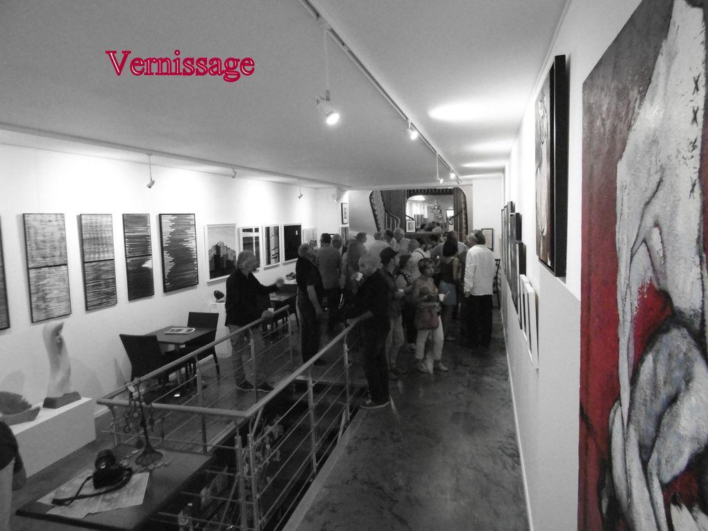 """Yvan Rotrou... """" C'est une expo en ma galerie, au milieu de diverses créations d'autres artistes, qui va s'étaler jusqu'au 18 septembre. Ce concept... Vernissage, zoom sur un artiste, concert animation musicale en soirée, est mon premier dans le genre """"."""