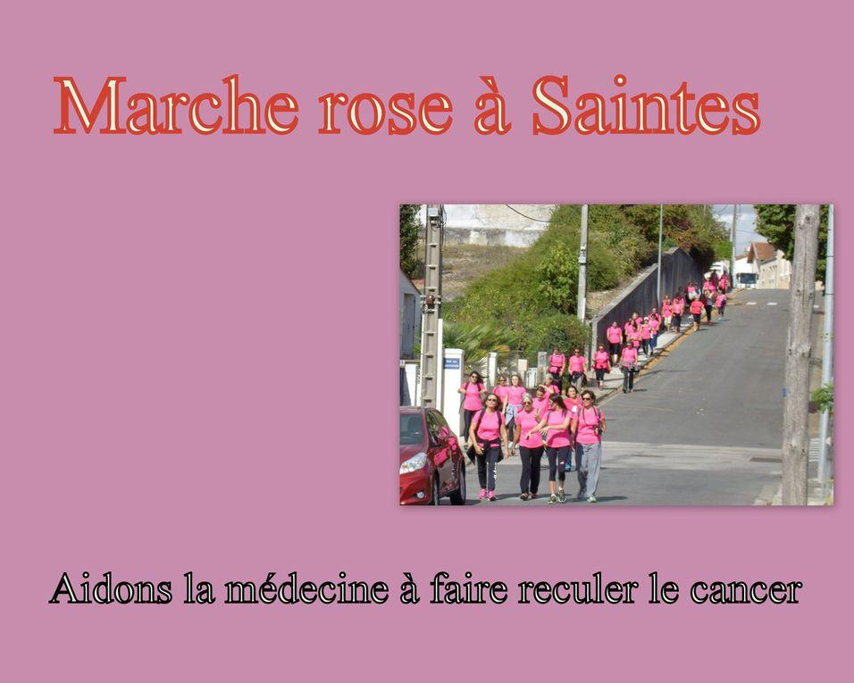 """La """" marche rose """" avait mobilisé à Saintes presque 300 volontaires sur un parcours de 1 kms. Demain soir, soit dimanche 2 octobre venez découvrir les nouvelles œuvres exposées an la galerie """" Instant T Art """"."""