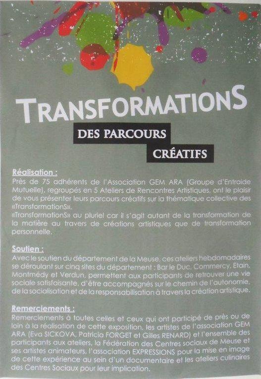 Exposition &quot&#x3B;TransformationS&quot&#x3B;