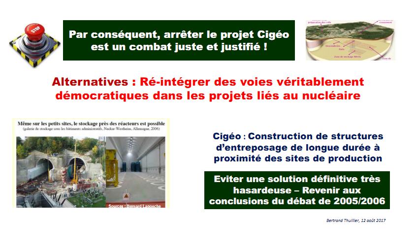 Arrêter le projet Cigéo est un combat juste et justifié