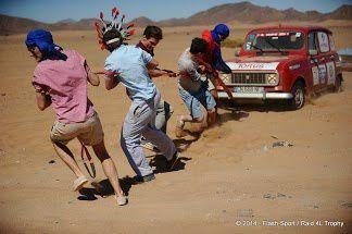 Dans la joie et la bonne humeur des jeunes aventuriers et une vénérable mécanique (Photos Flash-Sport.)