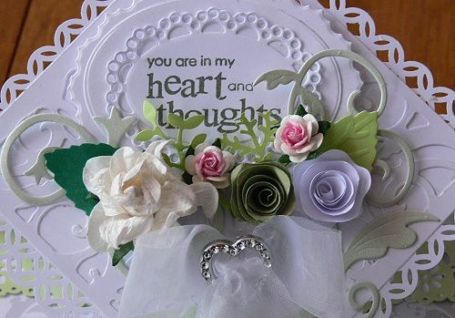 Carte &quot&#x3B;You are in my heart and thoughts&quot&#x3B;
