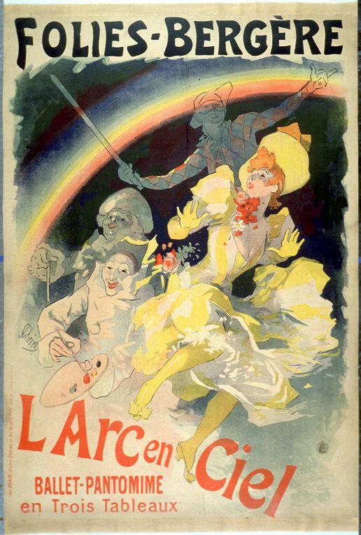 Affiches, Jules Chéret, peintre et lithographe français