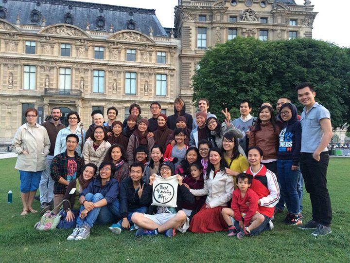 Med-Mob au Pont des Arts à Paris lors de la fête de la musique