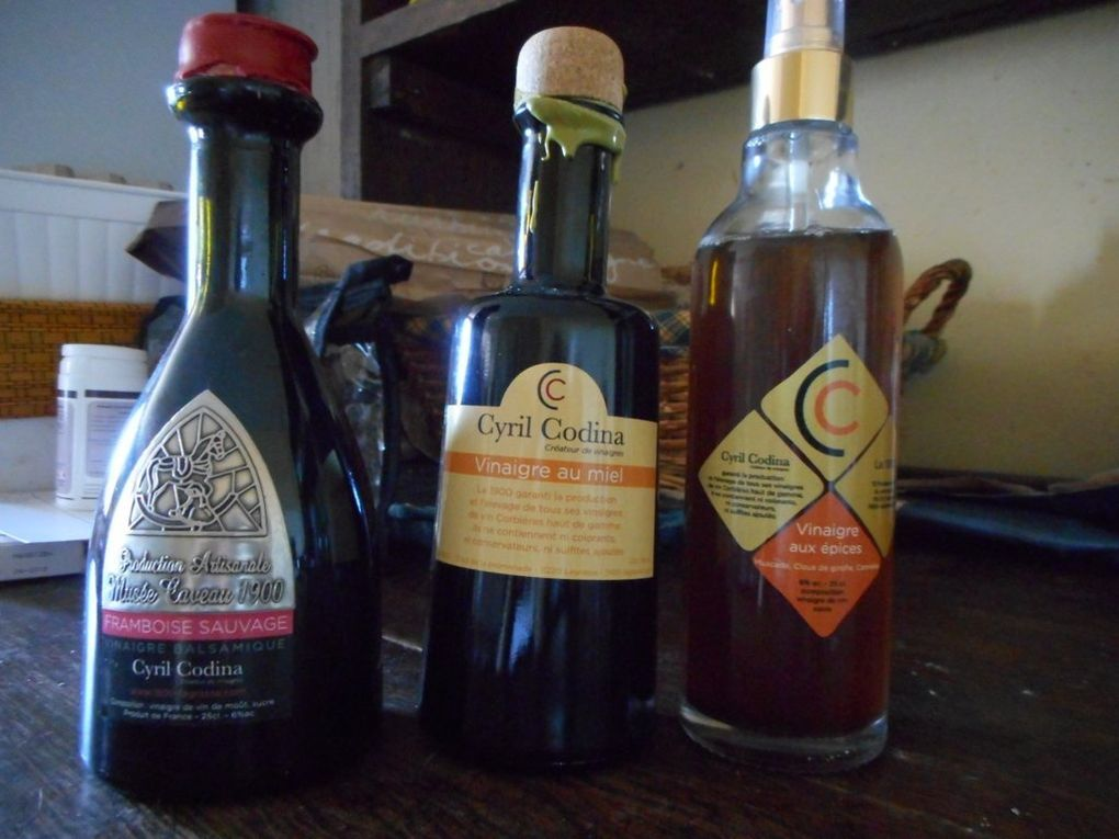 Un mets de choix : les vinaigres balsamiques ou aromatisés de Cyril CODINA