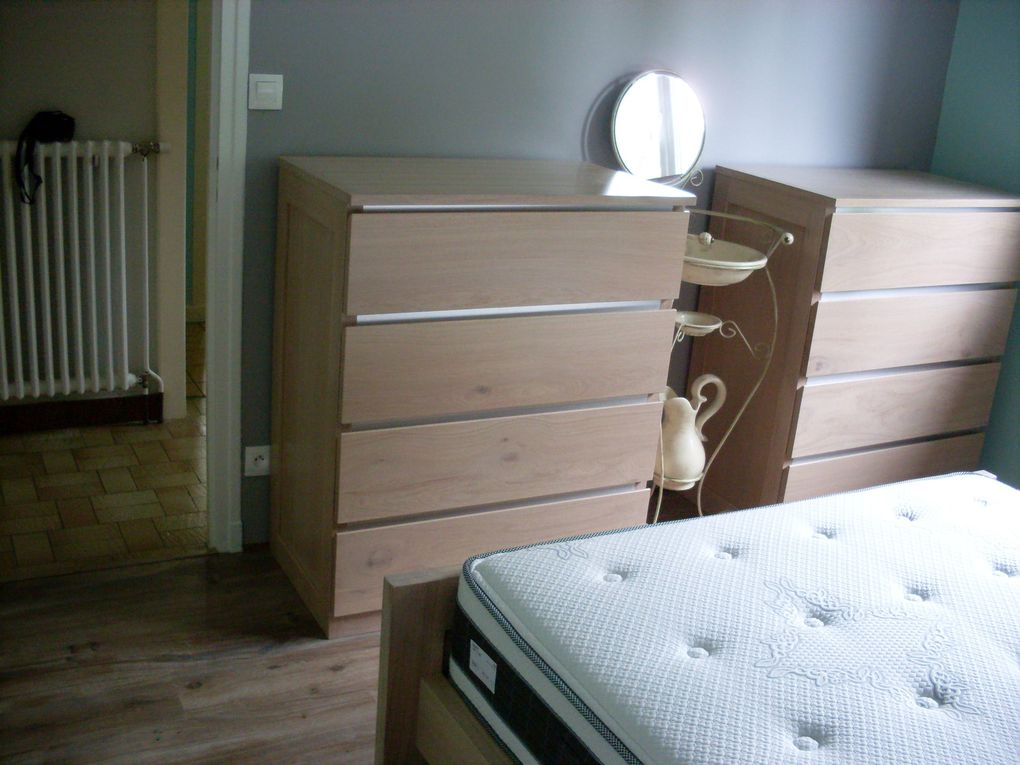 Chambre a coucher ma menuiserie for Meuble chene blanchi