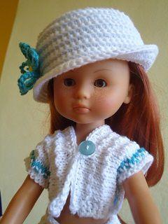 Tenue turquoise pour poupée chéries de corolle