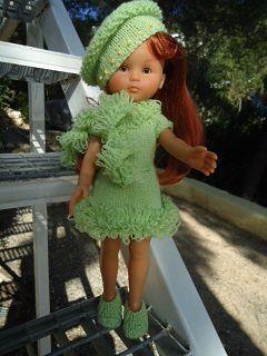 tenue pistache pour poupée chéries de corolle
