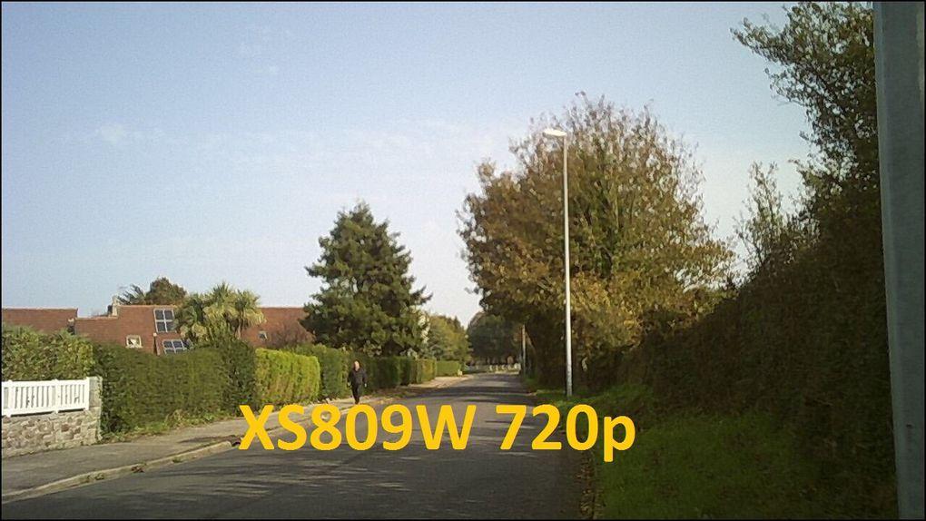 Difficile de comparer, ce n'est pas les mêmes conditions /saison mais il y a un peu plus de détails avec le XS809