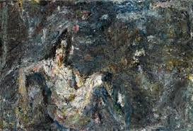 Eugène Leroy - et la SURFACE des êtres, de la vie, de la création. Le flou de l'existence, sans mise au point possible. pas nécessaire. La croûte, la poussière, la trace, l'illusion. Une lumière. Un mirage. Une image.