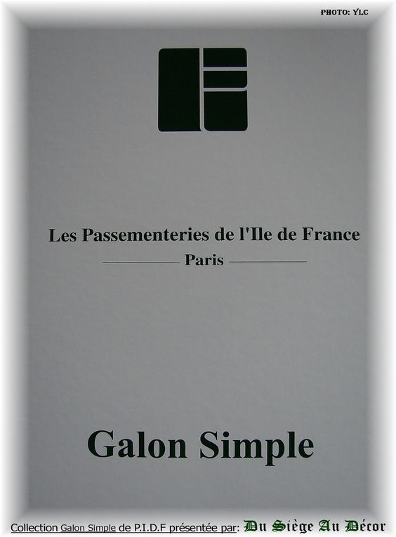Passementeries P.I.D.F Galon Simple