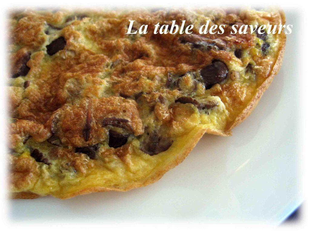 Pinchos omelette de mousseron