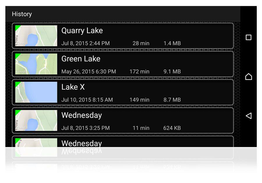 Calendrier, prévisions météo, historique des données, données GPS...