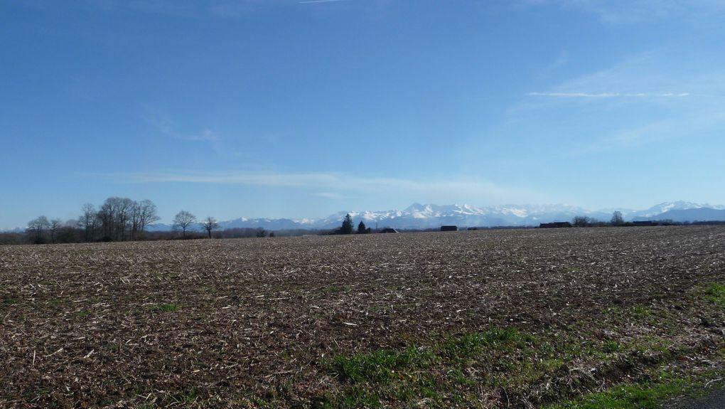 Superbes vues sur les Pyrénées.
