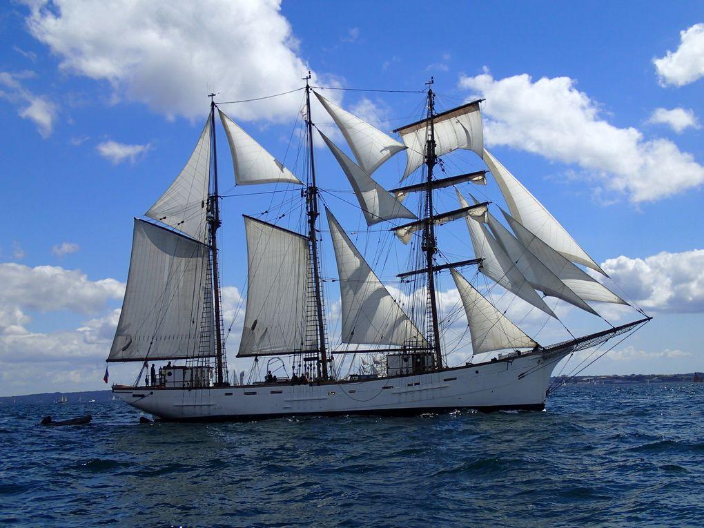 Blanc et Bleu en rade de Brest,