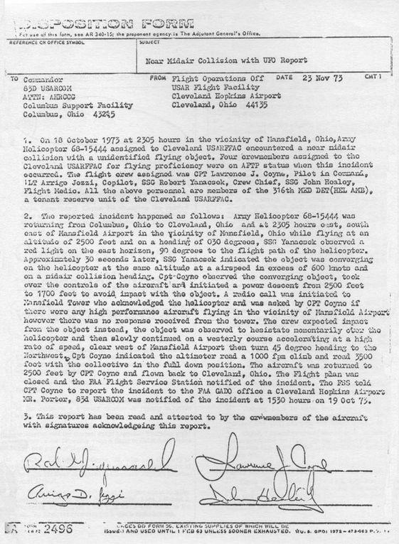 L'incident Coyne, Mansfield, Ohio, 1973