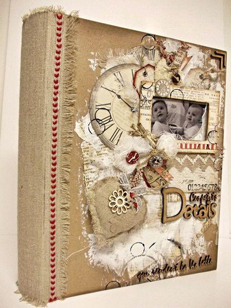 La boîte décorée et son album textile