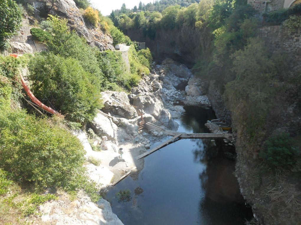 Le chantier en aval du pont du Chastelas