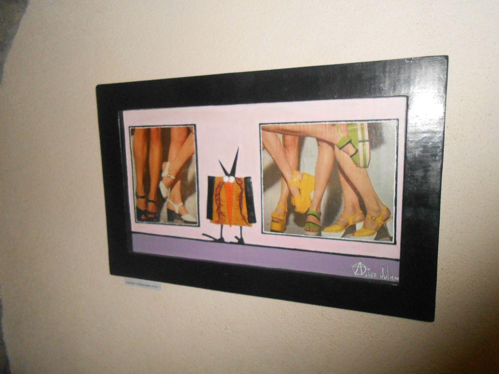 Des oeuvres diverses sont présentées dans la galerie