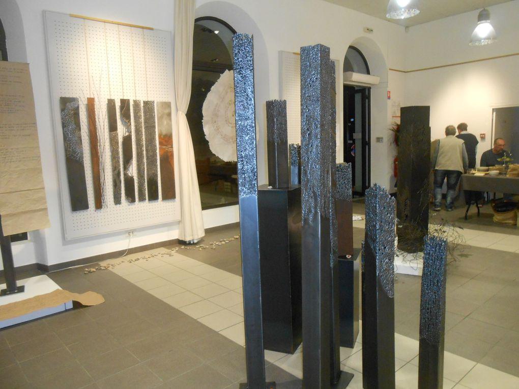 Les sculptures de métal, d'Yzo la forgeronne jaujacquoise, à voir salle Volane à Vals